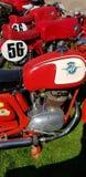 MV Agusta klasyczni motocykle przy Auto Italia wydarzeniem przy Brooklands Zdjęcie Stock