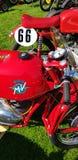 MV Agusta klasyczni motocykle przy Auto Italia wydarzeniem przy Brooklands Zdjęcia Stock