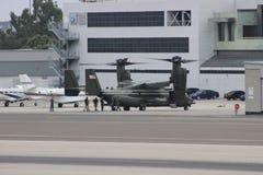 MV-22B Osprey lands in Santa Monica Stock Photos