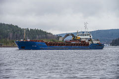 MV Bal Bulk is journeying Halden harbor Royalty Free Stock Photos