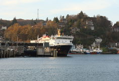 MV Isle of Mull in Oban Harbour Royalty Free Stock Photo