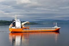 02.06.2014 –MV Lady Carina leaving Invergordon. Stock Images