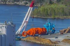 MV Meri, images shot from Fredriksten fortress Stock Photo