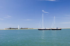 MV Moody Sailing Yacht Hurst Castle Stock Photography