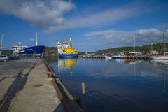 Mv north sea giant moored to the dock at the port of halden, nor Royalty Free Stock Images