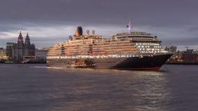 Mv Queen Victoria at Anchor in the Mersey; Liverpool stock photos