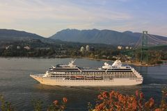 MV Regatta Sails from Vancouver Royalty Free Stock Images