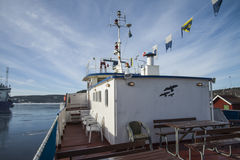 Mv sagasund (on the sundeck) Royalty Free Stock Photo