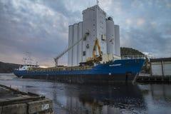 MV Westcarrier loads grain Royalty Free Stock Image