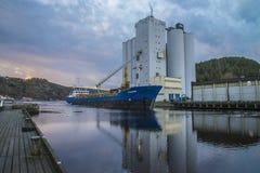 MV Westcarrier loads grain Stock Photos