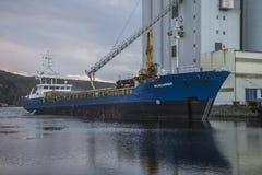 MV Westcarrier loads grain Royalty Free Stock Photo