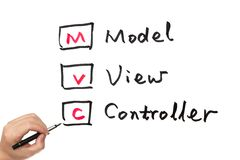 MVC- model, view and controller Stock Photo