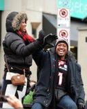 MVP Henry Burris de Grey Cup dans le défilé Photos libres de droits
