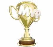 MVP la plupart de récompense précieuse de trophée d'or de joueur Photo stock