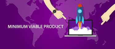 MVP minimum viable product rocket launch Royalty Free Stock Image