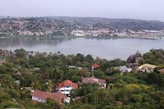 Mwanza和维多利亚湖 免版税库存图片