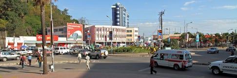 Mwanza stadsTanzania rondell Fotografering för Bildbyråer
