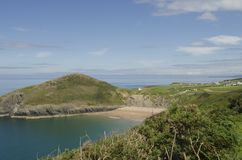 Mwnt beach view. Stock Images