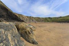Mwnt strandsikt Fotografering för Bildbyråer