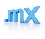 MX do ponto do símbolo do domínio do pixel Fotografia de Stock