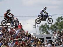 mx för luftförklädemotocross Fotografering för Bildbyråer