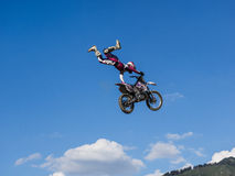 MX Freestyle Motocross. Styria, Austria - June 7, 2015: Austria, EU - June 7th, 2015: Erzberg Rodeo 2015, Motocross Mekka for MX drivers around the world Stock Image