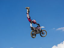 MX Freestyle Motocross. Styria, Austria - June 7, 2015: Austria, EU - June 7th, 2015: Erzberg Rodeo 2015, Motocross Mekka for MX drivers around the world Royalty Free Stock Images