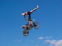 MX Freestyle Motocross. Styria, Austria - June 7, 2015: Austria, EU - June 7th, 2015: Erzberg Rodeo 2015, Motocross Mekka for MX drivers around the world Stock Photography