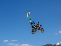 MX Freestyle Motocross. Styria, Austria - June 7, 2015: Austria, EU - June 7th, 2015: Erzberg Rodeo 2015, Motocross Mekka for MX drivers around the world Stock Photo