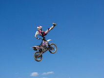 MX Freestyle Motocross. Styria, Austria - June 7, 2015: Austria, EU - June 7th, 2015: Erzberg Rodeo 2015, Motocross Mekka for MX drivers around the world Royalty Free Stock Photos