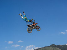 MX Freestyle Motocross. Styria, Austria - June 7, 2015: Austria, EU - June 7th, 2015: Erzberg Rodeo 2015, Motocross Mekka for MX drivers around the world Stock Images