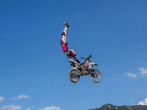 MX Freestyle Motocross. Styria, Austria - June 7, 2015: Austria, EU - June 7th, 2015: Erzberg Rodeo 2015, Motocross Mekka for MX drivers around the world Royalty Free Stock Photography