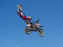 MX Freestyle Motocross. Styria, Austria - June 7, 2015: Austria, EU - June 7th, 2015: Erzberg Rodeo 2015, Motocross Mekka for MX drivers around the world Royalty Free Stock Photo