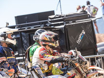 MX Motocross in Competition. Styria, Austria - June 7, 2015: Austria, EU - June 7th, 2015: Erzberg Rodeo 2015, Motocross Mekka for MX drivers around the world Stock Photography