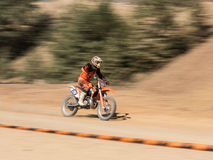 Mx-motocross i konkurrens Arkivfoto