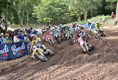 MX1 MX2 hole shot Stock Photography
