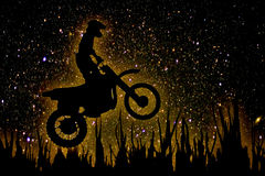 MX Rider silhouette Royalty Free Stock Photography