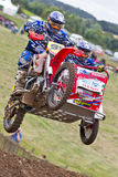 MX sidecar jump Stock Images