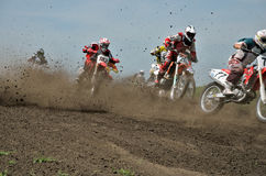 MX start holeshot parts Stock Photography