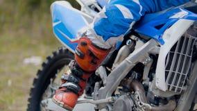 MXgirl on dirtbike - motocross sport stock photography