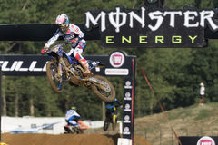 MXGP, EMX and MX2 motocross race during the italian MXGP World Championship 2017 at Ottobiano Circu Royalty Free Stock Photography