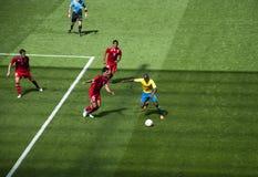 México contra Gabon nos olympics 2012 de Londres Imagens de Stock
