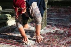 Myć dywan zdjęcie stock