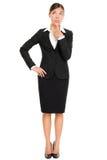 Myśląca biznesowej kobiety pozycja Obrazy Stock