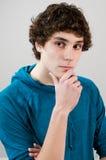 Myśląca nastoletnia chłopiec Obraz Royalty Free