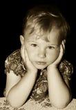Myślący dziecko Zdjęcia Royalty Free