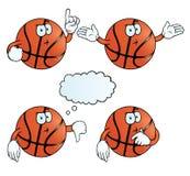 Myślący koszykówka set Obrazy Stock