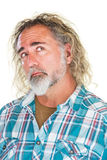 Myślący mężczyzna Patrzeje Fotografia Stock