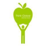 Myśl globalna ilustracja wektor