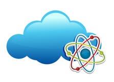 Myśleć o chemii chmurze ilustracji